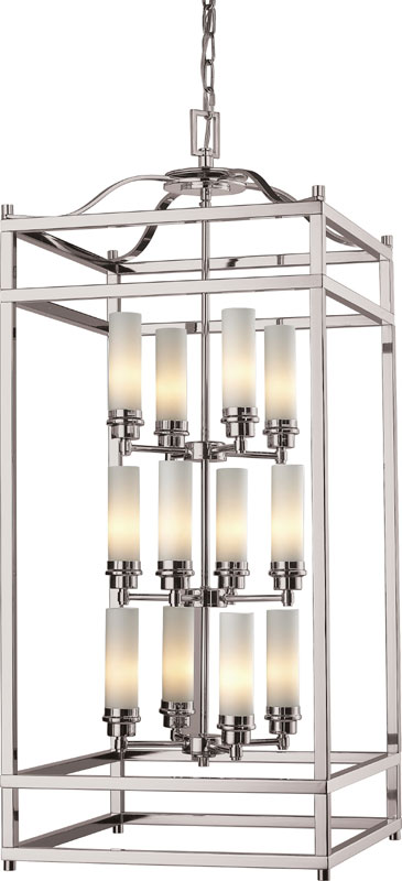 Tall Foyer Lighting : Z lite altadore brushed nickel quot tall foyer
