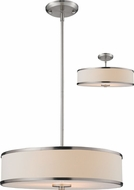 Z-Lite 183-20 Cameo Brushed Nickel 53.5 Tall Drum Pendant Light Fixture / Ceiling Fixture