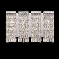 Z-Lite 184-4V Waltz Crystal Chrome 4.75  Tall Halogen 4-Light Bathroom Sconce