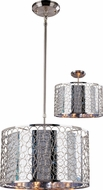 Z-Lite 185-15 Saatchi Contemporary Chrome 9  Tall Drum Hanging Pendant Light / Ceiling Fixture