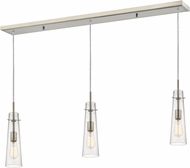 Z-Lite 188MP-3BN Monte Contemporary Brushed Nickel Clear Seedy Multi Drop Ceiling Lighting