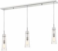 Z-Lite 188MP-3CH Monte Contemporary Chrome Clear Seedy Multi Ceiling Pendant Light
