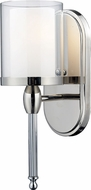 Z-Lite 1908-1S Argenta Chrome 4.75  Wide Wall Sconce Lighting