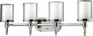 Z-Lite 1908-4V Argenta Chrome 10.5  Tall 4-Light Bathroom Lighting Sconce