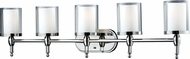 Z-Lite 1908-5V Argenta Chrome 43.25  Wide 5-Light Bathroom Sconce Lighting