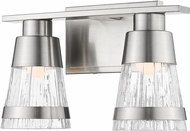Z-Lite 1923-2V-BN-LED Ethos Contemporary Brushed Nickel LED 2-Light Bathroom Lighting