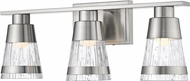 Z-Lite 1923-3V-BN-LED Ethos Contemporary Brushed Nickel LED 3-Light Bath Lighting