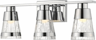 Z-Lite 1923-3V-CH-LED Ethos Modern Chrome LED 3-Light Bathroom Light