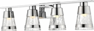 Z-Lite 1923-4V-CH-LED Ethos Modern Chrome LED 4-Light Vanity Lighting