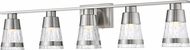 Z-Lite 1923-5V-BN-LED Ethos Contemporary Brushed Nickel LED 5-Light Vanity Light