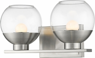 Z-Lite 1924-2V-BN-LED Osono Contemporary Brushed Nickel LED 2-Light Bath Lighting Fixture