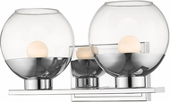 Z-Lite 1924-2V-CH-LED Osono Modern Chrome LED 2-Light Bathroom Light Fixture