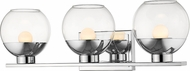 Z-Lite 1924-3V-CH-LED Osono Modern Chrome LED 3-Light Bathroom Vanity Light