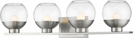 Z-Lite 1924-4V-BN-LED Osono Contemporary Brushed Nickel LED 4-Light Bathroom Sconce