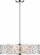 Z-Lite 195-26CH Opal Contemporary Chrome 26  Drum Pendant Light Fixture