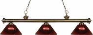 Z-Lite 200-3AB-ARBG Riviera Antique Brass Burgundy Kitchen Island Light