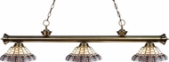Z-Lite 200-3AB-H14-4 Riviera Antique Brass Multi Colored Tiffany Kitchen Island Light