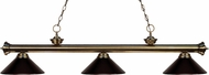 Z-Lite 200-3AB-MBRZ Riviera Antique Brass Bronze Island Light Fixture