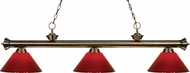 Z-Lite 200-3AB-PRD Riviera Antique Brass Red Island Lighting