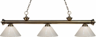 Z-Lite 200-3AB-PWH Riviera Antique Brass White Kitchen Island Lighting