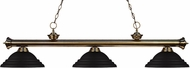 Z-Lite 200-3AB-SMB Riviera Antique Brass Stepped Matte Black Kitchen Island Light
