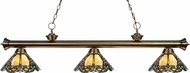 Z-Lite 200-3AB-Z14-37 Riviera Antique Brass Multi Colored Tiffany Island Lighting