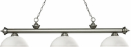 Z-Lite 200-3AS-DMO14 Riviera Antique Silver Dome Matte Opal Island Lighting
