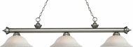 Z-Lite 200-3AS-WM16 Riviera Antique Silver White Mottle Kitchen Island Light Fixture