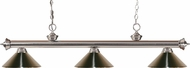 Z-Lite 200-3BN-MBN Riviera Brushed Nickel Brushed Nickel Kitchen Island Light