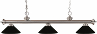 Z-Lite 200-3BN-MMB Riviera Brushed Nickel Matte Black Island Lighting