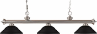 Z-Lite 200-3BN-SMB Riviera Brushed Nickel Stepped Matte Black Kitchen Island Lighting