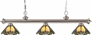 Z-Lite 200-3BN-Z14-37 Riviera Brushed Nickel Multi Colored Tiffany Island Light Fixture