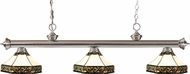 Z-Lite 200-3BN-Z16-30 Riviera Brushed Nickel Multi Colored Tiffany Kitchen Island Lighting