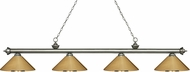 Z-Lite 200-4AS-MPB Riviera Antique Silver Polished Brass Kitchen Island Light Fixture