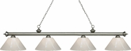 Z-Lite 200-4AS-PWH Riviera Antique Silver White Island Light Fixture