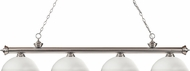 Z-Lite 200-4BN-DMO14 Riviera Brushed Nickel Dome Matte Opal Island Lighting