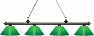Z-Lite 200-4GB-GCG14 Riviera Golden Bronze Green Cased Island Light Fixture