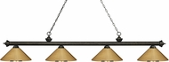 Z-Lite 200-4GB-MPB Riviera Golden Bronze Polished Brass Kitchen Island Light
