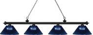 Z-Lite 200-4MB-ARDB Riviera Matte Black Dark Blue Kitchen Island Light Fixture