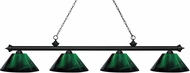 Z-Lite 200-4MB-ARG Riviera Matte Black Green Island Lighting