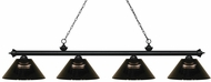 Z-Lite 200-4MB-ARS Riviera Matte Black Smoke Kitchen Island Lighting