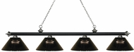 Z-Lite 200-4MB-BN-ARS Riviera Matte Black & Brushed Nickel Smoke Island Light Fixture
