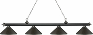 Z-Lite 200-4MB-BN-MGB Riviera Matte Black & Brushed Nickel Golden Bronze Kitchen Island Light Fixture