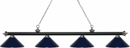 Z-Lite 200-4MB-BN-MNB Riviera Matte Black & Brushed Nickel Navy Blue Kitchen Island Lighting