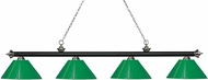 Z-Lite 200-4MB-BN-PGR Riviera Matte Black & Brushed Nickel Green Kitchen Island Light Fixture