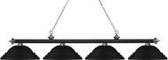 Z-Lite 200-4MB-BN-SMB Riviera Matte Black & Brushed Nickel Stepped Matte Black Island Light Fixture