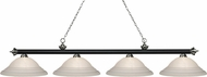 Z-Lite 200-4MB-BN-SW16 Riviera Matte Black & Brushed Nickel White Swirl Kitchen Island Light Fixture