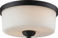 Z-Lite 220F2 Arlington Bronze 5.75  Tall Flush Mount Lighting