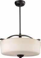 Z-Lite 220P Arlington Bronze 17.88  Wide Hanging Lamp