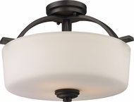 Z-Lite 220SF Arlington Bronze 11.25  Tall Flush Mount Lighting Fixture